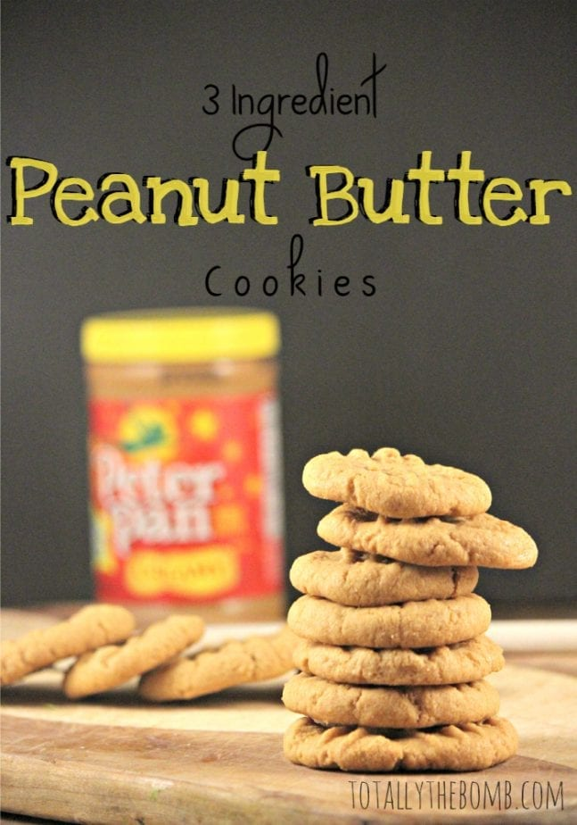 These insanely easy peanut butter cookies only call for 3 simple ingredients