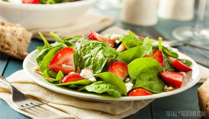Strawberry Spinach Salad with Caramelized Bacon Vinaigrette