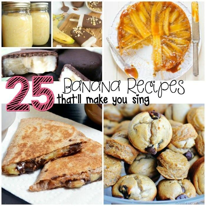 25 delicious banana recipe ideas sq