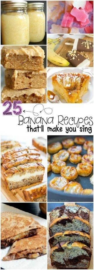 Banana Recipes Pin