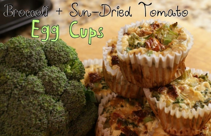 Broccoli & Sun-Dried Tomato Egg Cups
