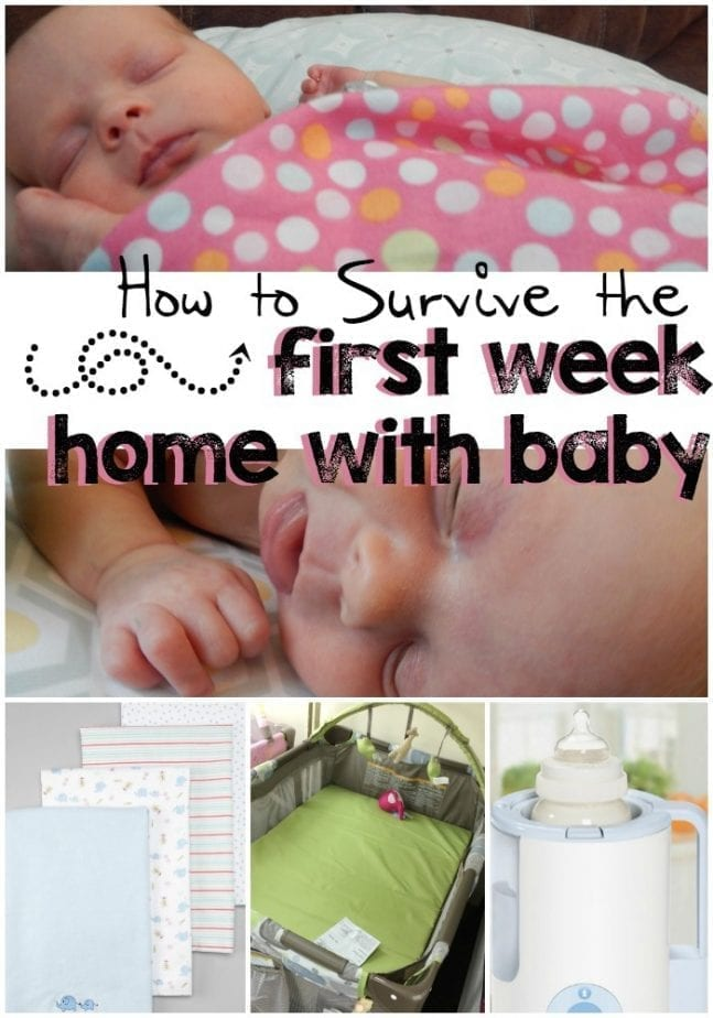 first week baby is home pin