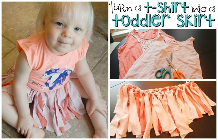 Turn an Old Shirt into a Toddler Skirt