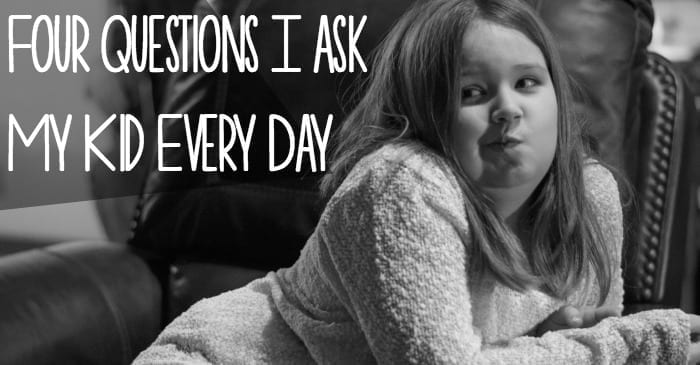 questions I ask my kid black and white