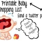 Free Printable Baby Shopping List