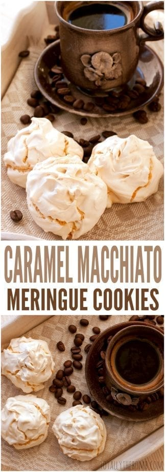 Next time you're craving the coffee house at home, make these caramel macchiato meringue cookies. You're going to love them! Click now!