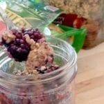 Breakfast Blackberry Cobbler {in a Jar}
