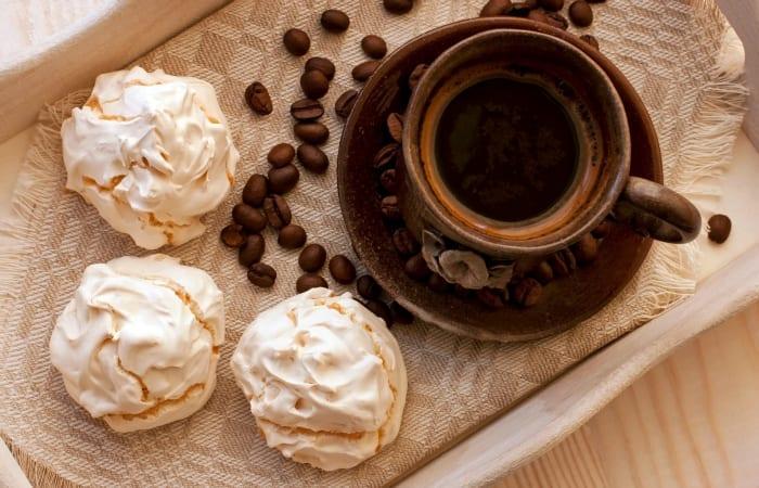 Caramel Macchiato Meringue Cookies