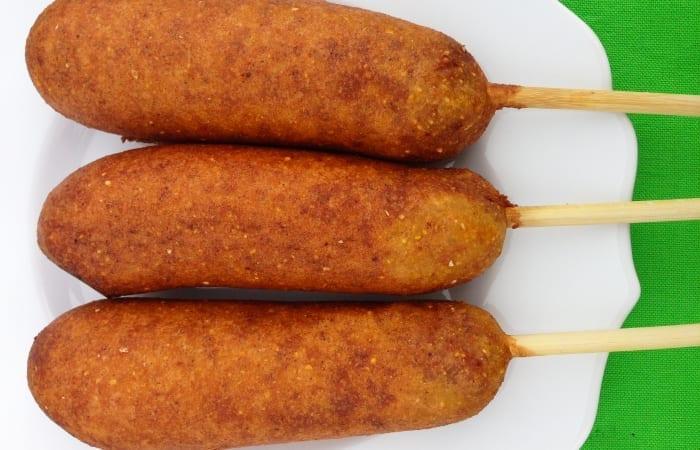 gluten free chicken sausage corndog