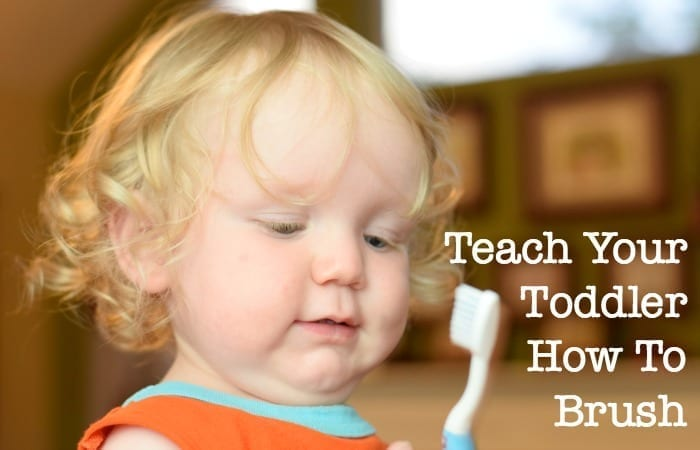 teach your toddler how to brush