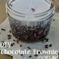 DIY Chocolate Brownie Candle