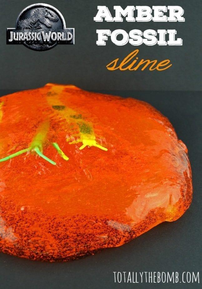 Jurassic World Amber Fossil Slime