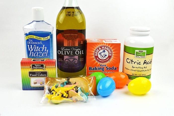 dinosaur egg bath bombs supplies