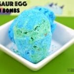 Homemade Dinosaur Egg Bath Bombs