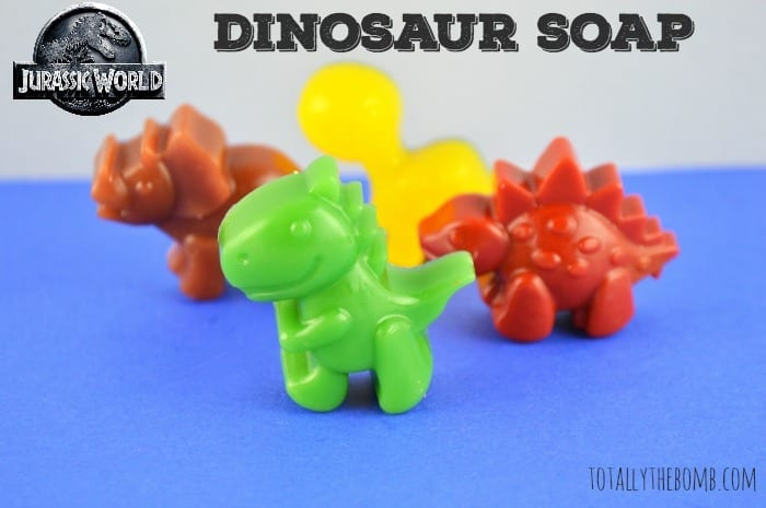 jurassic world inspired dinosaur soap featured