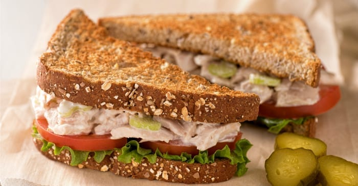 toasted tuna salad sandwich