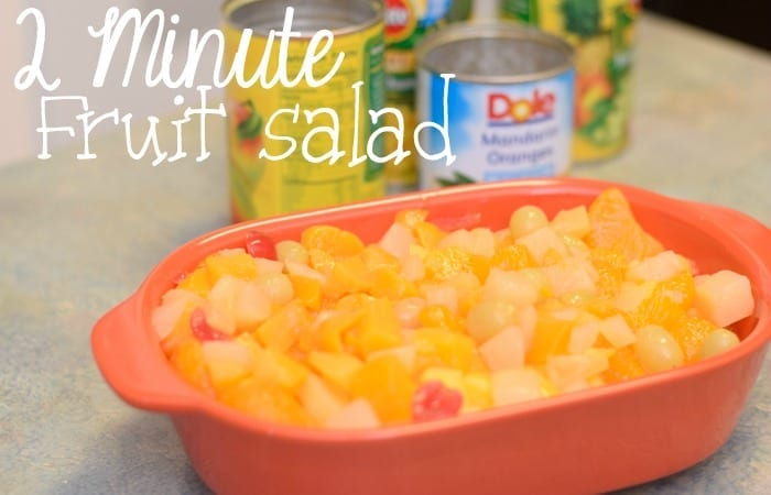 2 Minute Fruit Salad