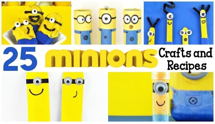 25 Minions Crafts and Recipes Featured