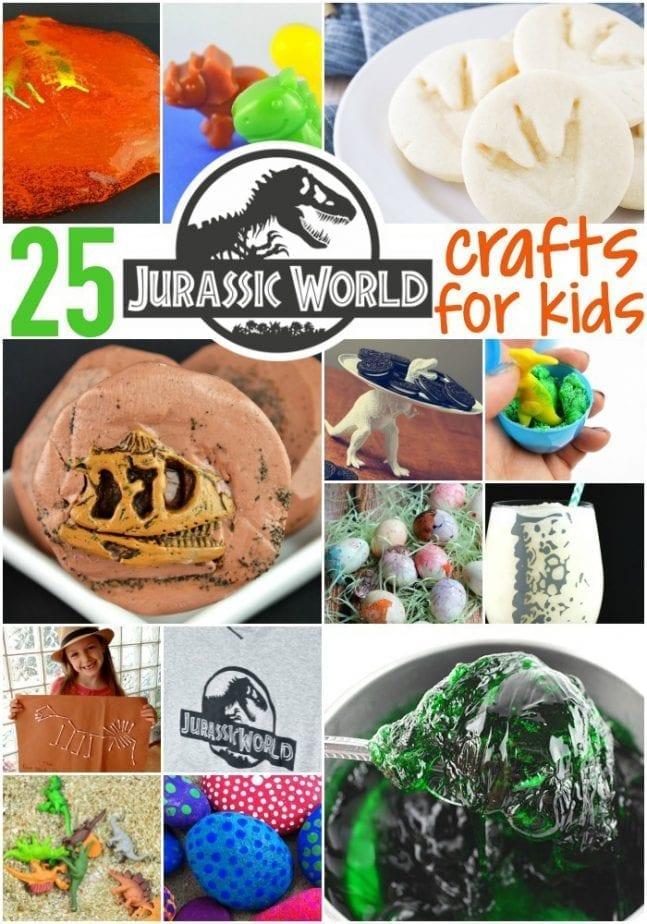 25 jurassic world crafts for kids