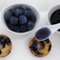 Mini Blueberry Donuts
