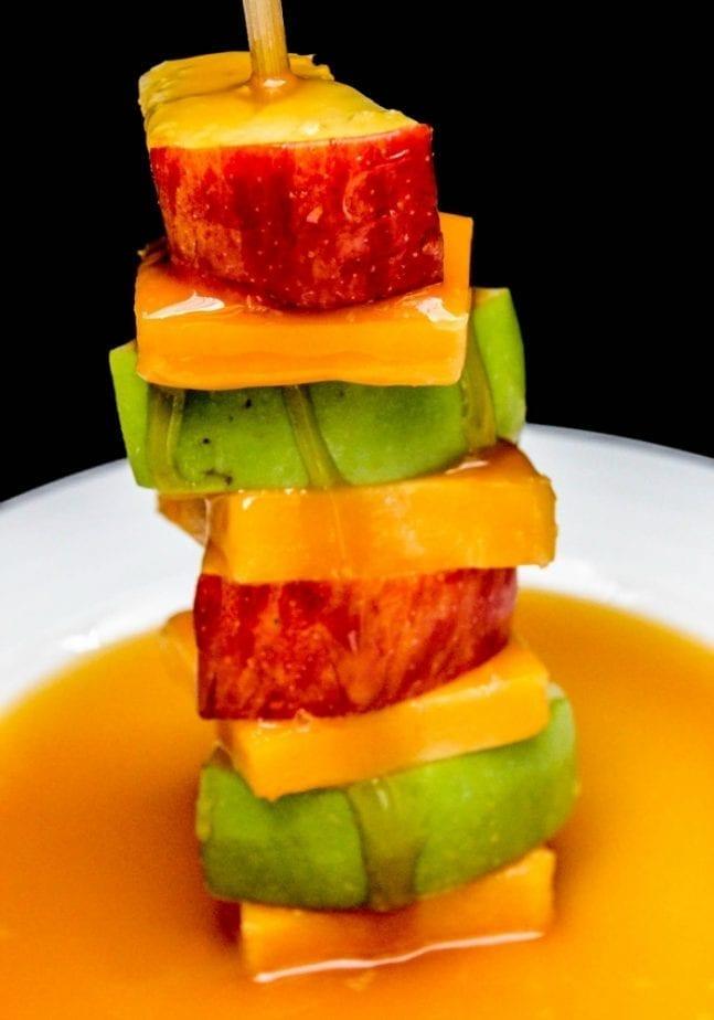Deconstructed Cheddar & Salted Caramel Apple