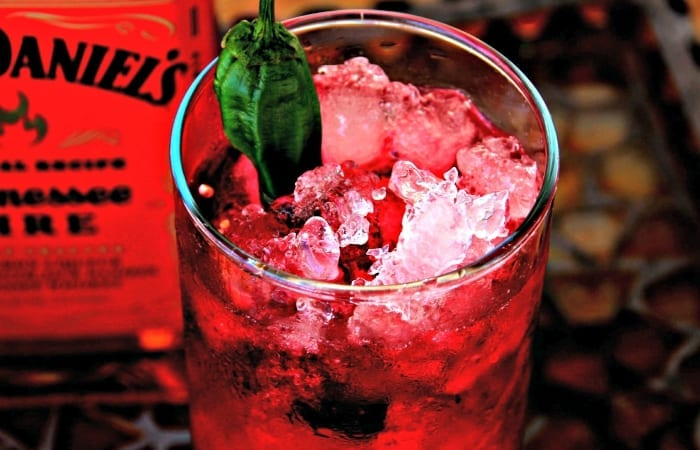 Fire Cranberry Crush with Pepper Garnish