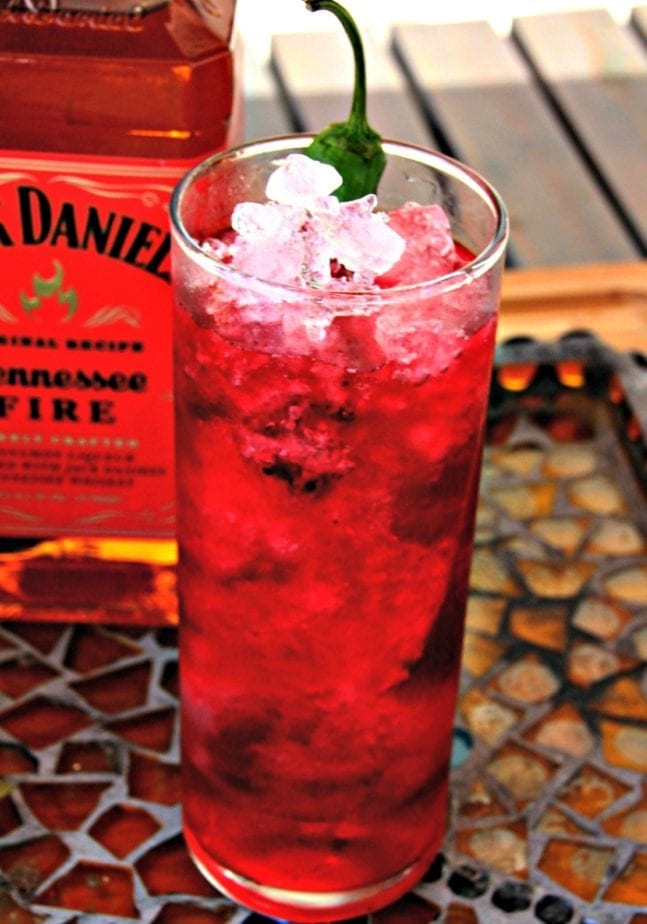 Fire Cranberry Crush with Pepper Garnish