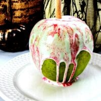 White Chocolate Cotton Candy Apples