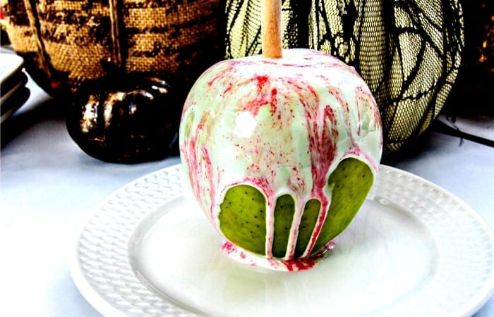 white chocolate cotton candy apple