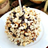 Chocolate and Popcorn Candy Apples