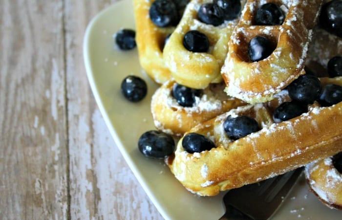 homemade waffle mix
