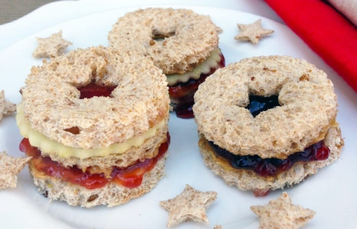 Peanut Butter and Jelly Linzer Sandwiches