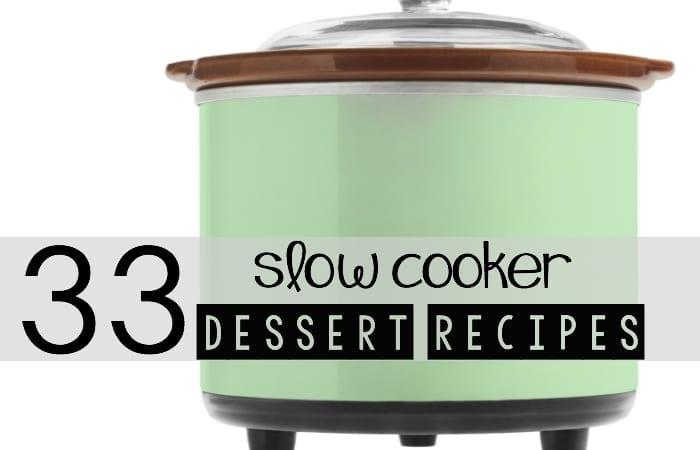 33 Slow-Cooker Dessert Recipes
