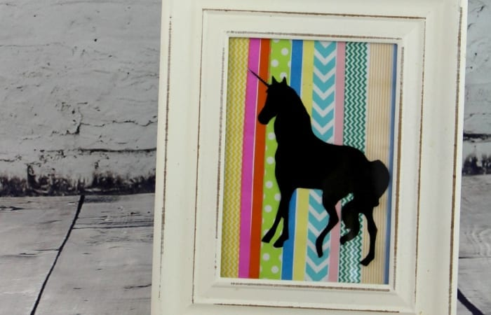 DIY Washi Tape Unicorn Silhouette