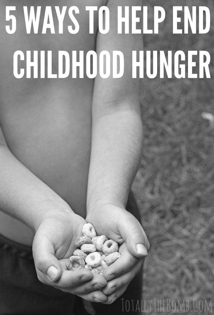 5 ways to help end childhood hunger