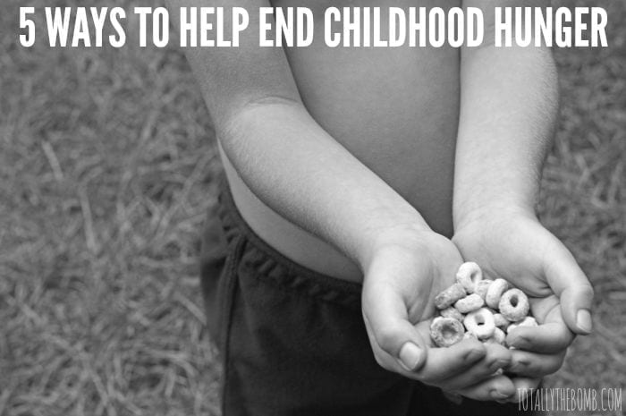 5 ways to help end childhood hunger featured