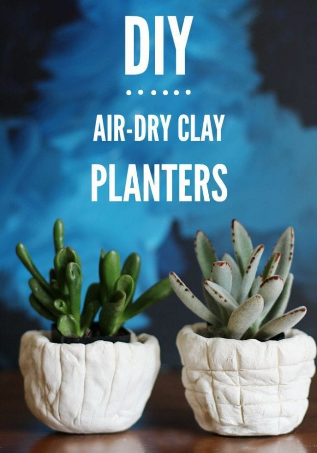 Make these cool DIY Air Dry Planters!