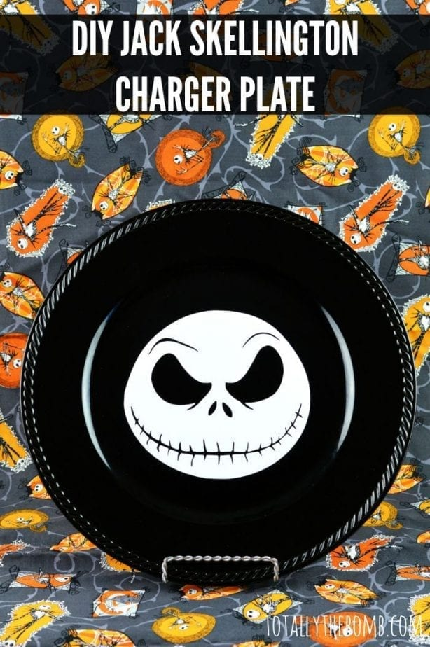 Jack Skellington Charger Plate