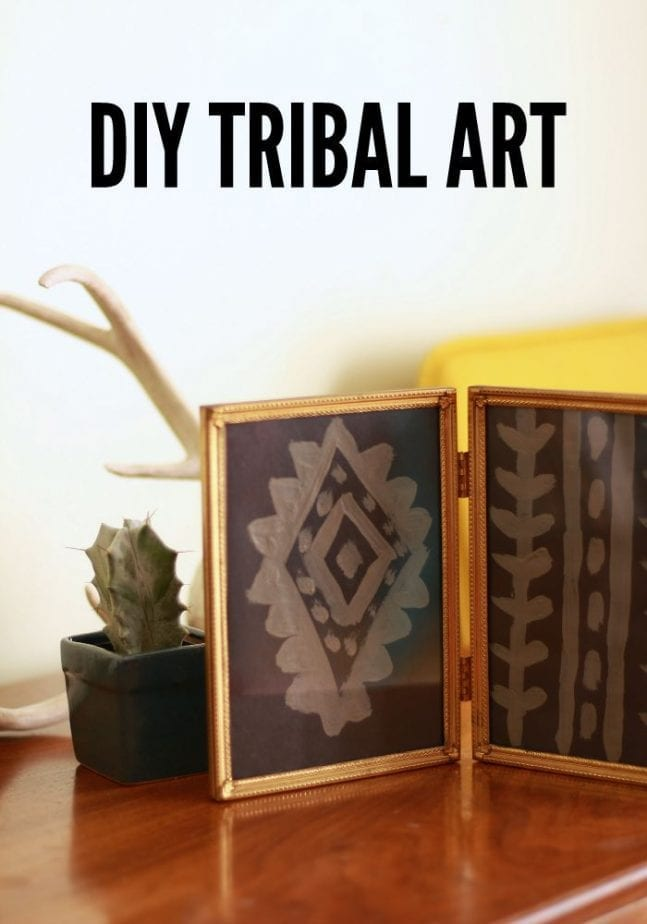 Make this cool DIY Tribal Art for your home in just minutes!