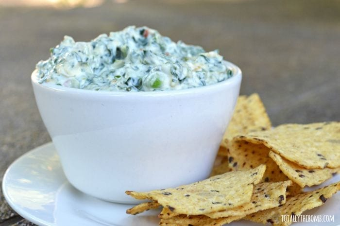 dairy-free spinach dip featured