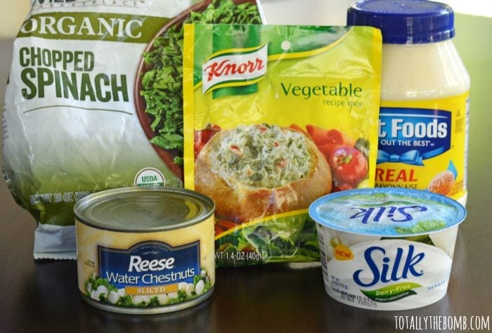 dairy-free spinach dip ingredients
