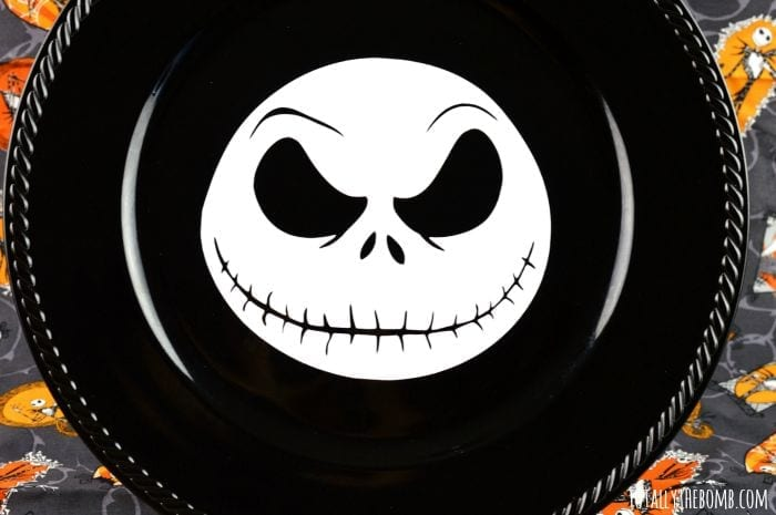 jack skellington charger plate featured