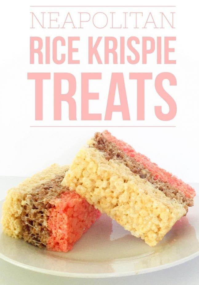neapolitan rice krispie treats