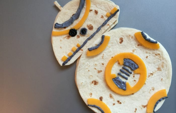 Star Wars BB-8 Droid Quesadillas