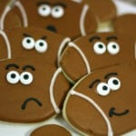 Cartoon Football Cookies