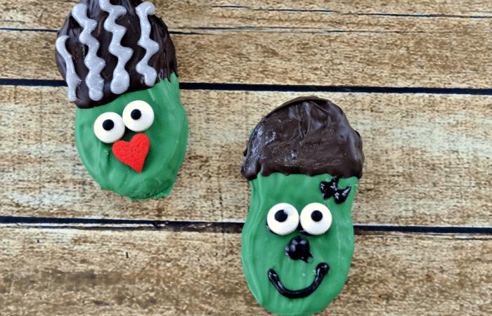 Frankenstein Nutter Butter Cookies