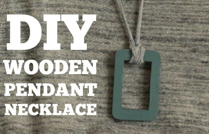 DIY Wooden Pendant Necklace