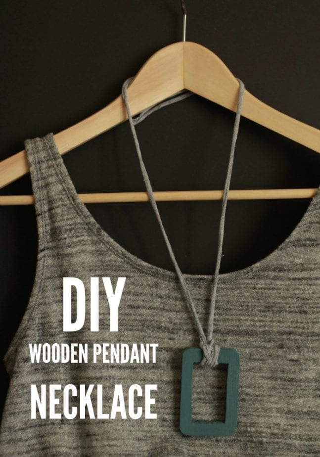 Turn an inexpensive wooden shape from any craft store into a cool DIY Wooden Pendant Necklace!