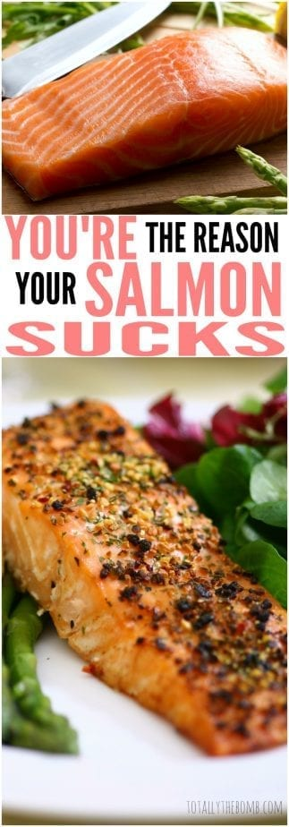 Ever wondered why salmon tastes so gross? It's probably how you're cooking it! Click now!