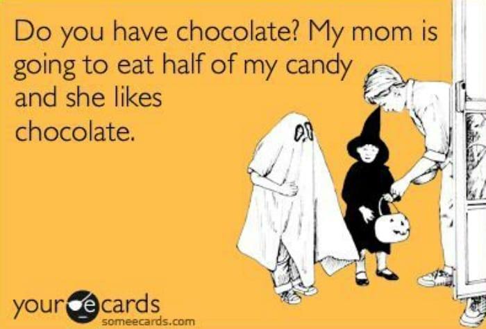 mom likes chocolate